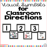 Visual Directions for Classroom Black Polka Dot