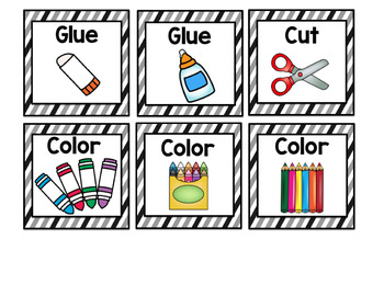 Visual Symbols for Classroom Directions: Black Stripes