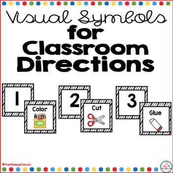 Visual Symbols for Classroom Directions: Black Stripes