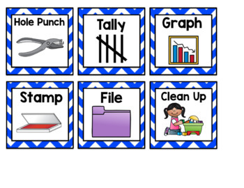Visual Symbols for Classroom Directions: Blue Chevron