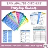 Visual Task Analysis Cards and Data Sheets for Everyday Routines
