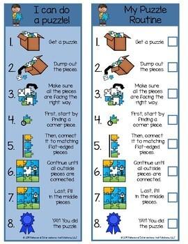 Visual Task Analysis Puzzle Routine