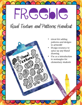 Visual Texture Handout- {Patterns and Designs}