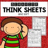 Visual Think Sheet and Behavior Management