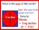Visual Thinking: Perimeter, Area, Circumference plus Student Handouts