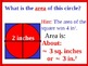 Visual Thinking: Perimeter, Area, Circumference plus Stude