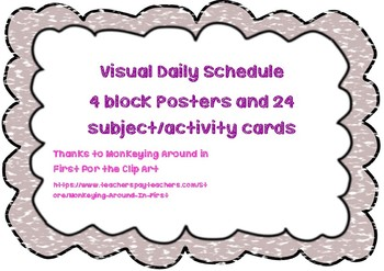 Visual Time Table