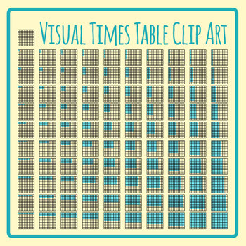 Visual Times Tables / Multiplication Clip Art Set Commercial Use 101 Images!