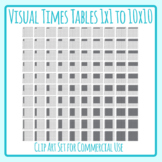 Visual Times Tables - Multiplication Facts as Graphic Representations Clip Art