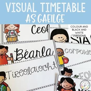 Visual Timetable - AS GAEILGE