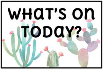 Visual Timetable | Cactus Theme | Editable