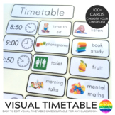 Editable Visual Timetable Cards