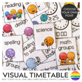 DOT DUDES Visual Timetable Editable Portrait Cards