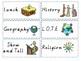Visual Timetable Cards Victorian Modern Cursive