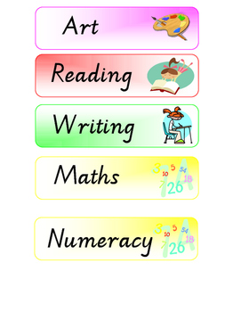 Visual Timetable / Classroom schedule printable PDF version