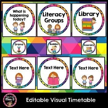 Visual Timetable Editable