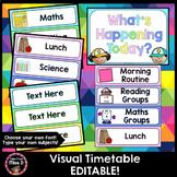 Visual Timetable Editable (Rainbow Pastel)