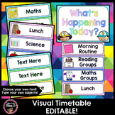 Visual Timetable Editable (Rainbow Pastel)