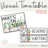 Visual Timetable | Editable | Cactus Theme