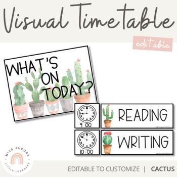 Visual Timetable | Editable | Cactus Theme