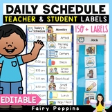 Editable Schedule Labels - Pocket Chart Visual Timetable