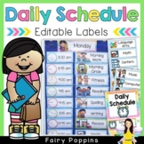 Editable Daily Schedule Labels {Pocket Chart Visual Timetable}