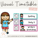 Visual Timetable - Editable {Rainbow Classroom Decor}