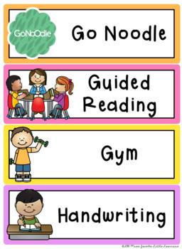 Visual Timetable - Editable {Rainbow Classroom Decor}