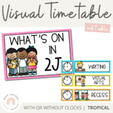 Visual Timetable | Editable | Tropical Colour Palette