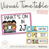 Visual Timetable   Editable   Tropical Colour Palette