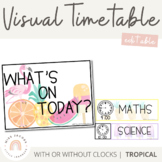 Visual Timetable | Editable | Tropical Theme