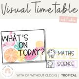 Visual Timetable   Editable   Tropical Theme
