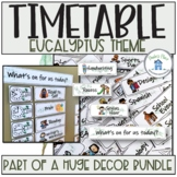 Visual Timetable Eucalyptus Theme