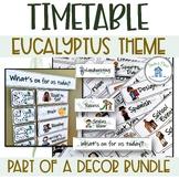 Visual Timetable Eucalyptus Theme