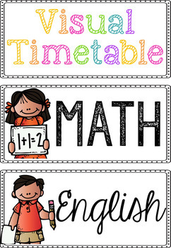 Visual Timetable FREEBIE