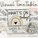Modern BOHO RAINBOW Visual Timetable   Boho Rainbow   Neut