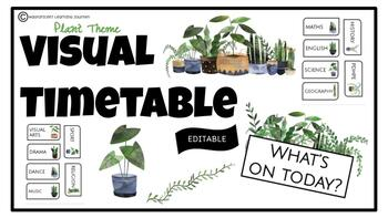Visual Timetable | Plant Theme | Editable