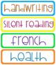 Visual Timetable - Rainbow Theme