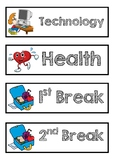 Visual Timetable Schedule Cards - Australian Primary School Year 2