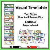 Visual Timetable Two Sizes - Editable