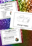 Visual Timetable for Toddler - Glitter and Rainbows