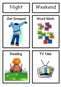 Visual Timetables for School and Home