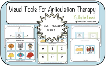 Visual Tools for Articulation Therapy (Syllable Level)