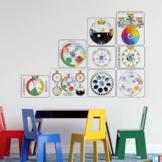 Visual Trackers Set, Montessori Time and Calendar Materials