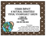 STEM Visual Vocabulary Cards - Human Impact and Natural Disasters