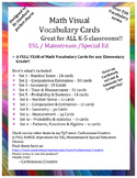 Visual Vocabulary Cards - Math Grades K-5 BUNDLE