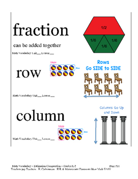 Visual Vocabulary Cards - Math Grades K-5 BUNDLE
