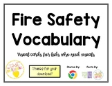 Visual Vocabulary Cards for Fire Safety and Vocabulary
