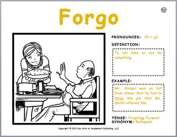 "Visual Vocabulary ""Word Wall"" Cards (180 Pack) K-5th Grade Verbs"