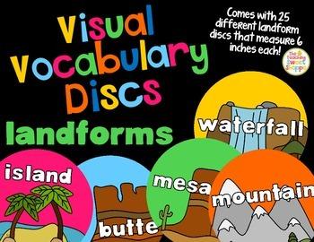 Visual Vocabulary Discs - Landforms